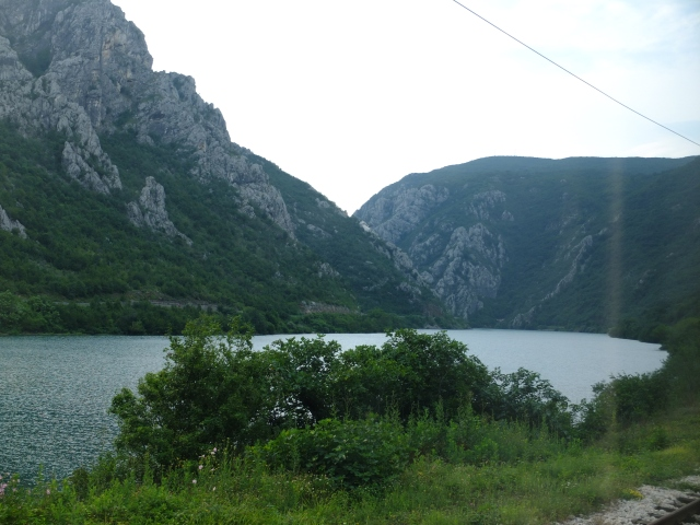 Paisaje desde el tren a Sarajevo